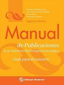 Manual de Publicaciones de la American Psychological Association   Publication Manual of the APA PDF