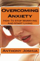 Overcoming Anxiety How to Stop Worrying and Start Living PDF