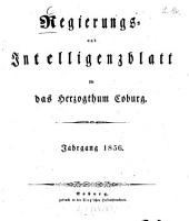 Regierungs- und Intelligenzblatt für das Herzogtum Coburg: 1856