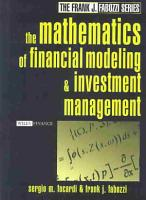 The Mathematics of Financial Modeling and Investment Management PDF