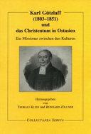 Karl G  tzlaff  1803 1851  und Das Christentum in Ostasian PDF
