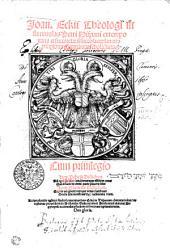 Joan. Eckii Theologi in summulas