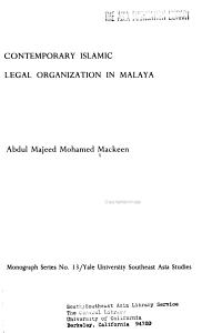 Contemporary Islamic Legal Organization in Malaya PDF