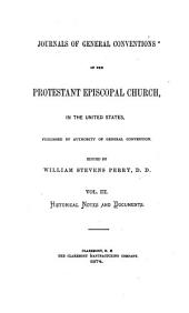 Journals of General Conventions: Historical notes and documents