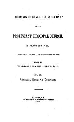 Journals of General Conventions  Historical notes and documents PDF