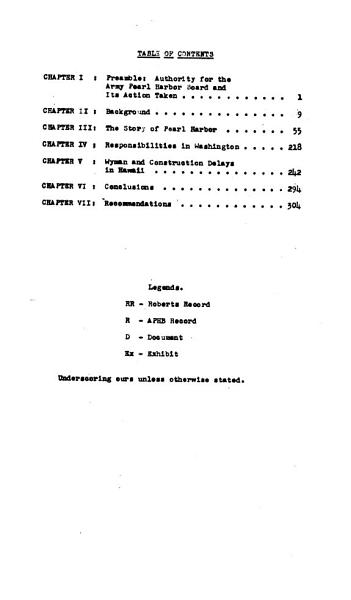 Report of Army Pearl Harbor Board
