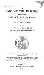 The Laws of the Hebrews, Relating to the Poor and the Stranger