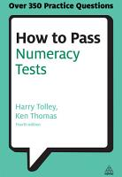 How to Pass Numeracy Tests PDF