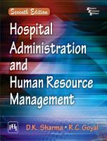 HOSPITAL ADMINISTRATION AND HUMAN RESOURCE MANAGEMENT PDF