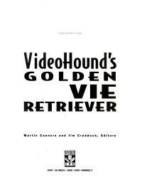 VideoHound s Golden Movie Retriever 2000 PDF
