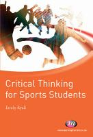 Critical Thinking for Sports Students PDF
