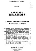 Complete works  For chorus with piano or organ PDF