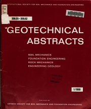 Geotechnical Abstracts PDF