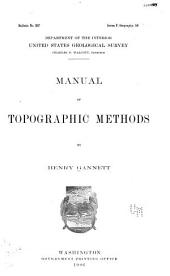 Manual of Topographic Methods