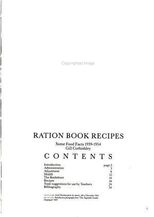 Ration Book Recipes