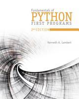 Fundamentals of Python  First Programs PDF