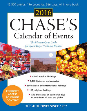Chase s Calendar of Events 2016
