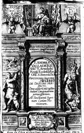 F. Andreae Valladerii... Partitiones oratoriae, seu de oratore perfecto...