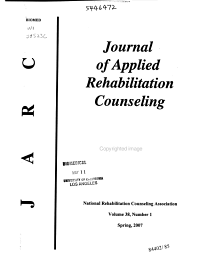 Journal of Applied Rehabilitation Counseling PDF
