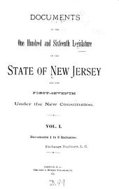 Journal of the ... Senate of the State of New Jersey ...: Volume 1