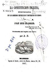 La constitución inglesa comparada con los gobiernos republicanos y monárquicos de Europa
