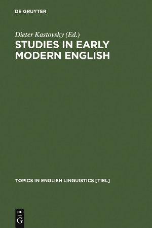Studies in Early Modern English PDF