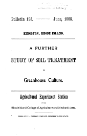 A further study of soil treatment in greenhouse culture