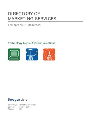 BoogarLists   Directory of Marketing Services PDF