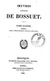 Oeuvres complètes de Bossuet: Volume6