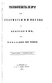 Tijdschrift voor staathuishoudkunde en statistiek: Volumes 1-2