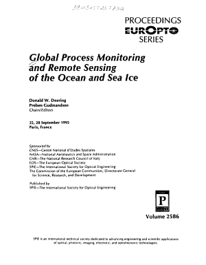 Global Process Monitoring and Remote Sensing of the Ocean and Sea Ice PDF