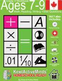 Grade 3, Ages 7-9 Math, Reading, Writing Practice Workbook - HomeSchool Ready +3000