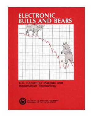 Electronic bulls and bears   U S  securities markets and information technology