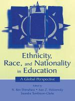 Ethnicity  Race  and Nationality in Education PDF