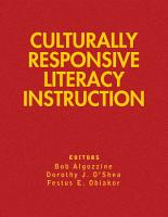 Culturally Responsive Literacy Instruction PDF