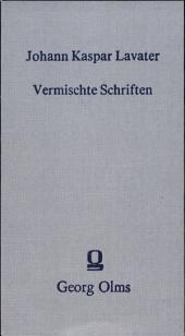 Vermischte Schriften: Band 1