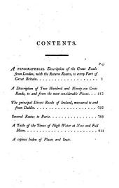 Kearsley's Traveller's Entertaining Guide Through Great Britain; Or, A Description of the Great Roads and Principal Cross-roads: Marking the Distances of Places to and from London, and from Each Other ... the Principal Great Roads of Ireland; Different Routes to Paris ... Etc