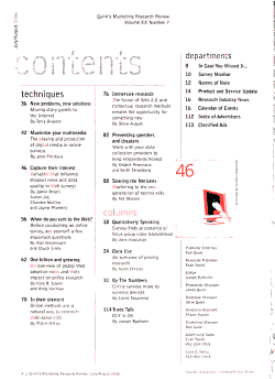 Quirk s Marketing Research Review PDF