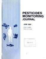 Pesticides Monitoring Journal PDF