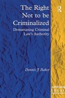 The Right Not to be Criminalized PDF