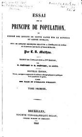 Essai sur le principe de population: traduit de l'anglais, Volume1