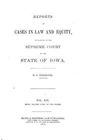 Reports of Cases in Law and Equity, Determined in the Supreme Court of the State of Iowa: Volume 72