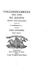 Volgarizzamento delle favole di Esopo, testo riccardiano inedito [ed. by L. Rigoli.].
