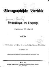 Verhandlungen des Reichstags: Band 62