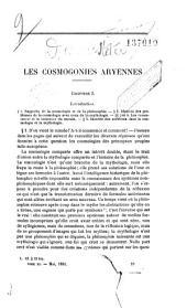 Les Cosmogonies aryennes