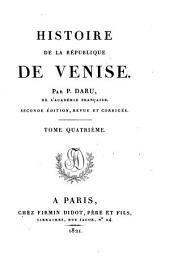 Histoire de la république de Venise: Volume4