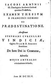 Examen thesium Francisci Gomari de praedestinatione