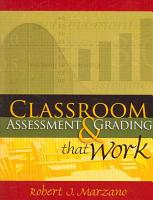 Classroom Assessment   Grading that Work PDF