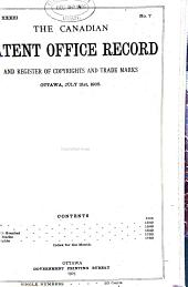 Canadian Patent Office Record: Volume 33, Part 2