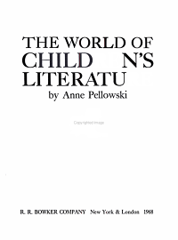 THE WORLD OF CHILDREN S LITERATURE PDF